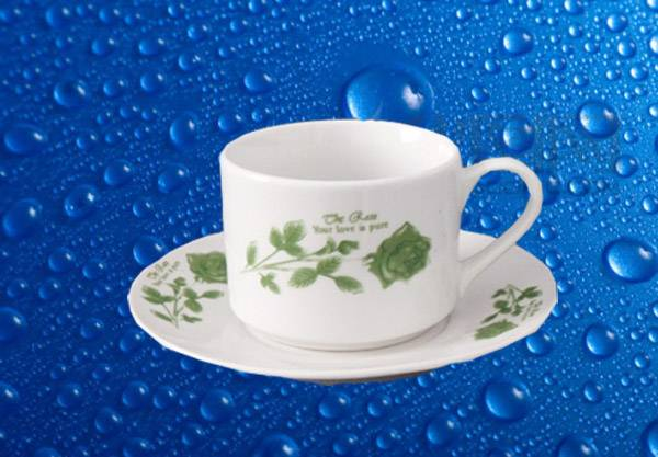 Porcelain Cup & Saucer Sets with Customized Design,SA8000,SMETA Sedex/BRC/BSCI/ISO Audit