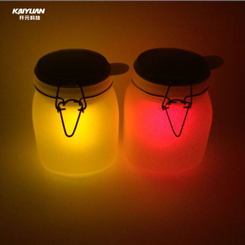 LED frosted glass bottle jar in factory price