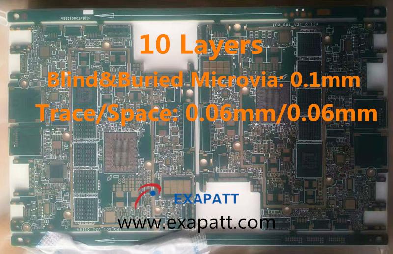 10layers HDI, Blind Microvia, Buried Microvia