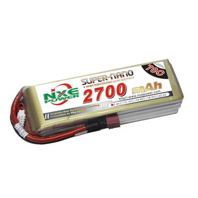 NXE2700mAh-70C-7.4V Softcase RC Helicopter Battery