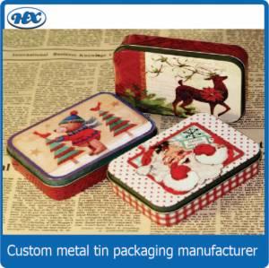 Christmas tin gift chocolate tin box