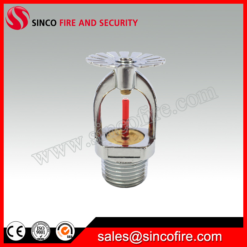 Rapid response chrome finished fire sprinkler heads