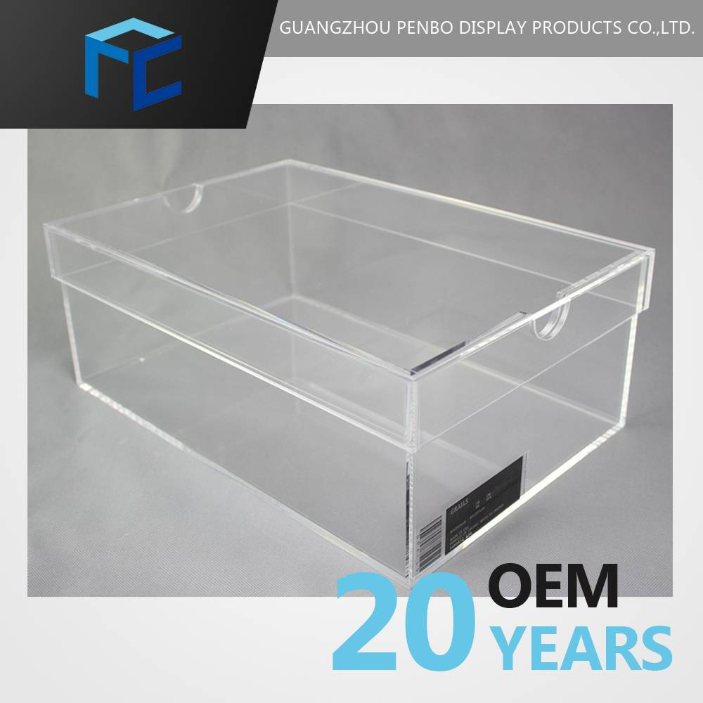 wholesale empty transparent clear acrylic mini custom made shoe box