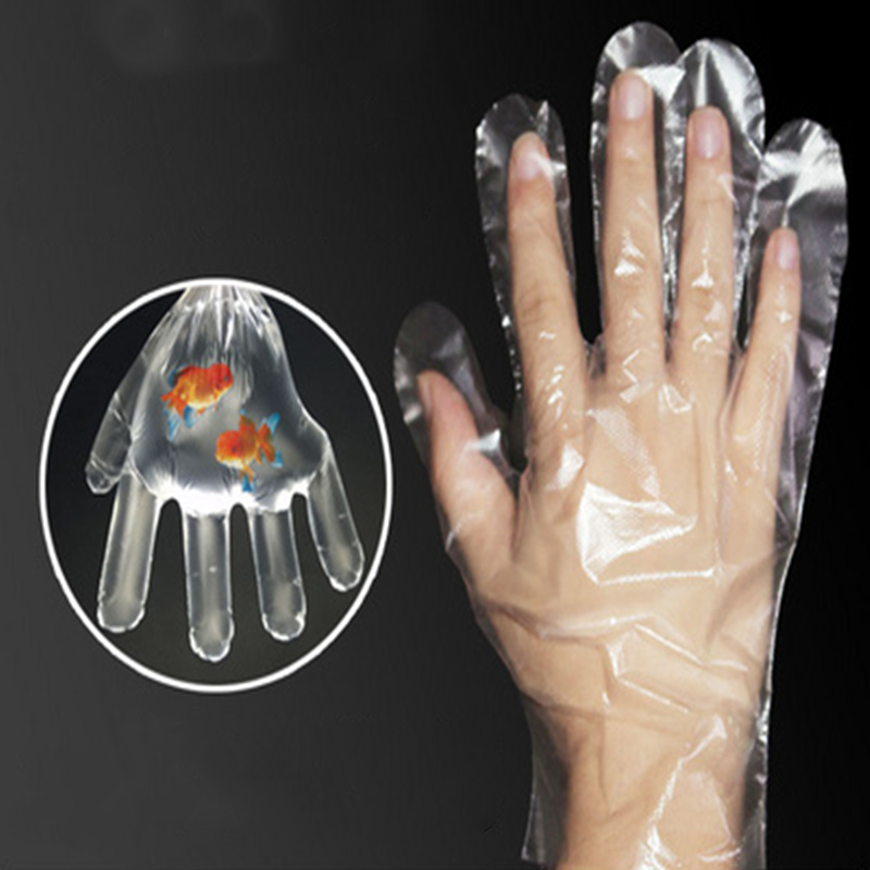 Large Clear Disposable Plastic Polythene PE Gloves
