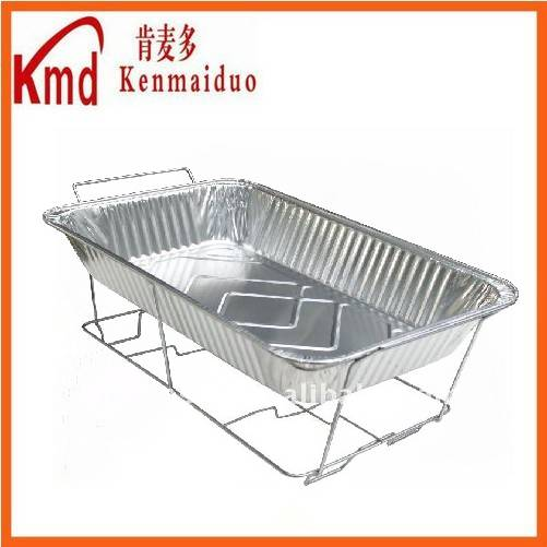 2015New mold super size food packing aluminum tray barbecue rectangle shape foil container