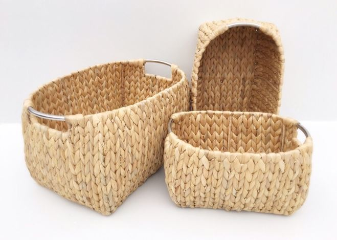 rattan, waterhyacinth storage basket