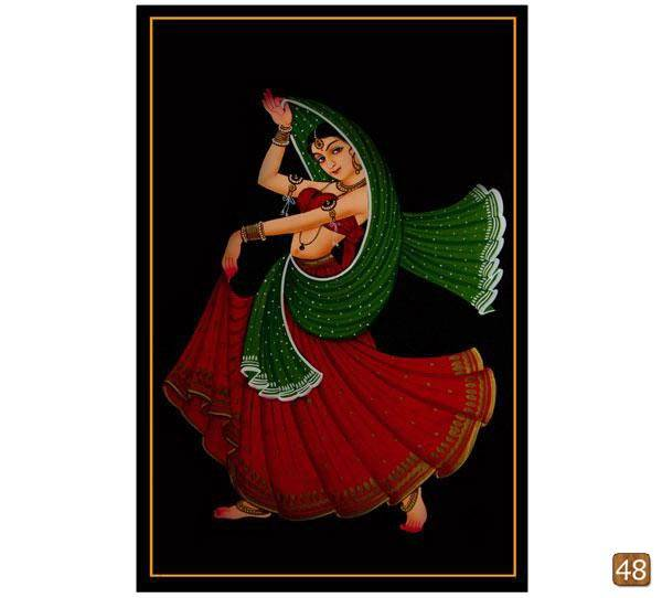 Ethnic Nirmal painting-Dancing girl