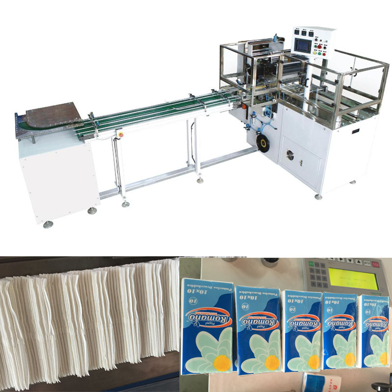 fully automatic handkerchief paper machine with packing