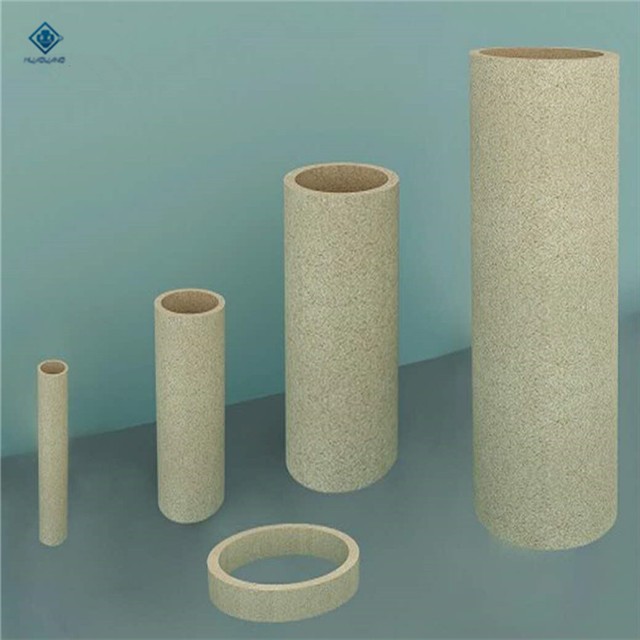 Yellow high refractory AL2O3 casting straight ceramic pipe
