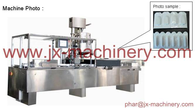 China pharmaceutical machinery for suppository flling and sealing production line