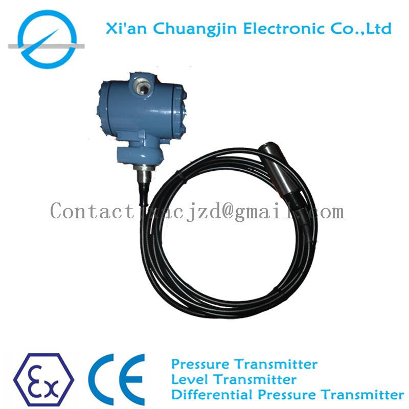 General purpose submersible pressure level transmitter with housing