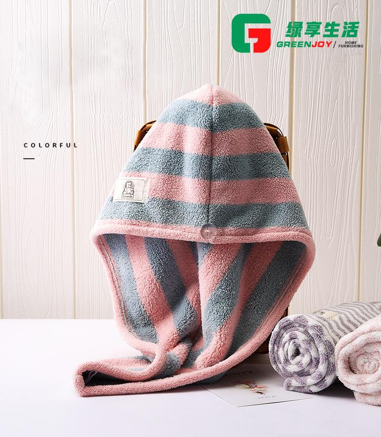 Quick dry hair towel wrap, microfiber drying hair cap, 100% cotton hair turban, hair band