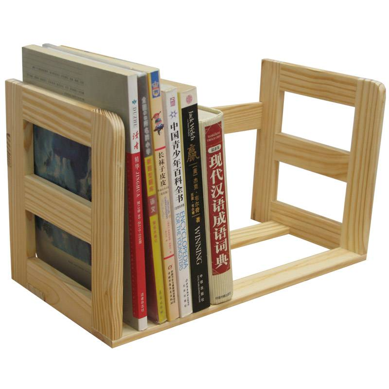 Wooden Bookshelf Tabletop Book Browser Solid Unfinished Pine