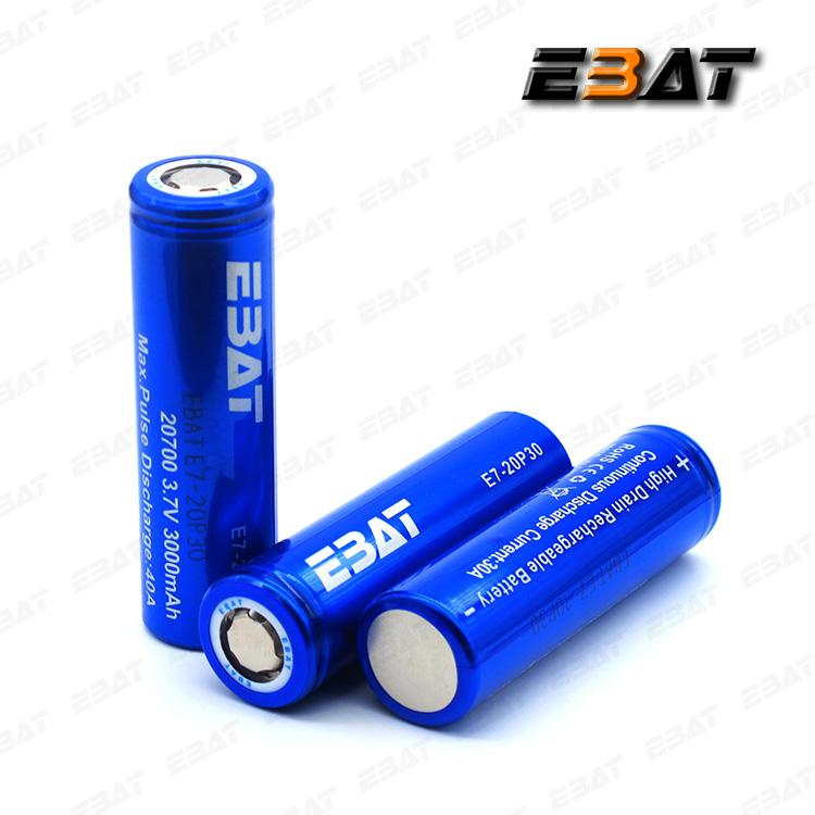 EBAT 20700 3000mAh 40A high drain vape battery