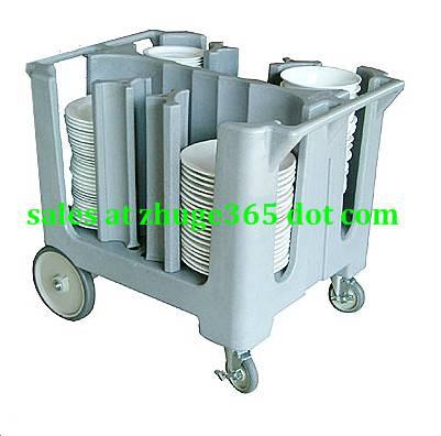 Premium Grey Plastic Adjustable Dish Plate Caddy