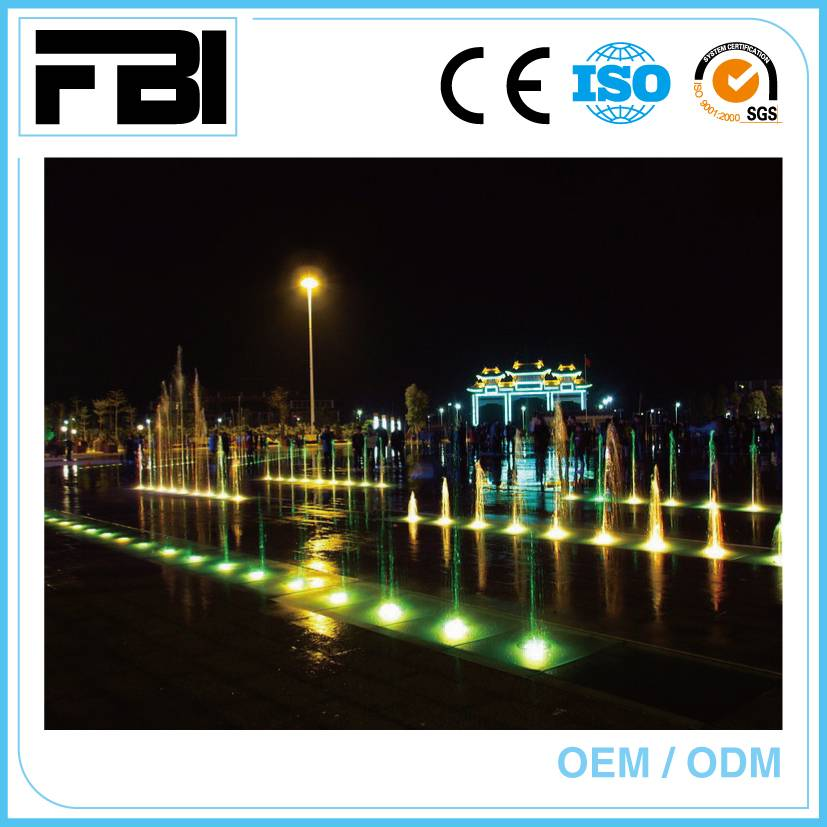 Dry fountain for park or shopping mall, Entertaining