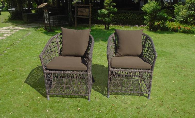 Hot selling poly rattan dining chair