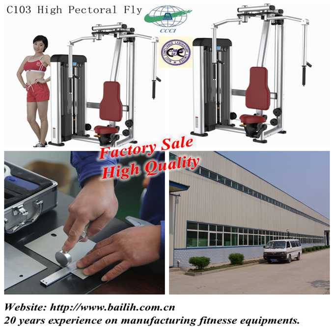 C103 High Pectoral Fly Machine Strength Equipment With Factory Sale