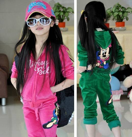 Girls children spring autumn outfit new velvet cardigan long sleeve tracksuit Children's Hoodies & S