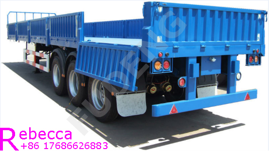 35 ton capacity sidewall semi trailer bulk cargo transport bagged cement side wall trailer