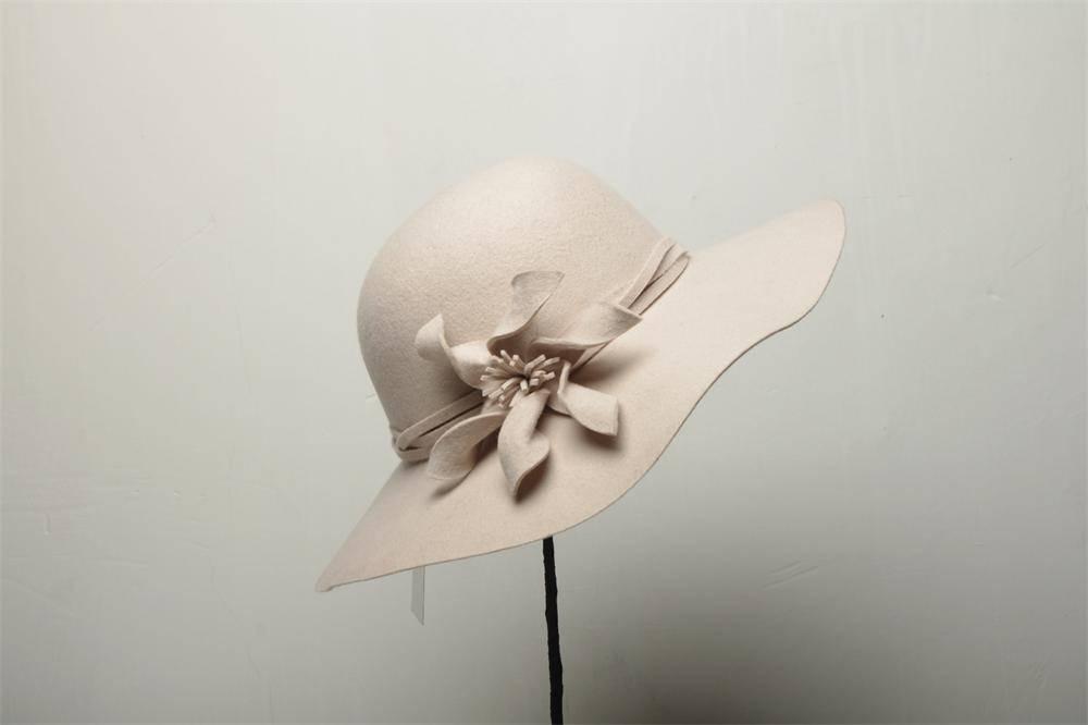 Wide Brim Wool Felt Hat (FW012385)