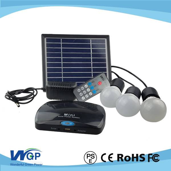 mini solar home lighting system 3w led solr lights with mobile charger
