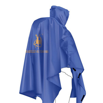 Single person poncho raincoat backpack cover H07