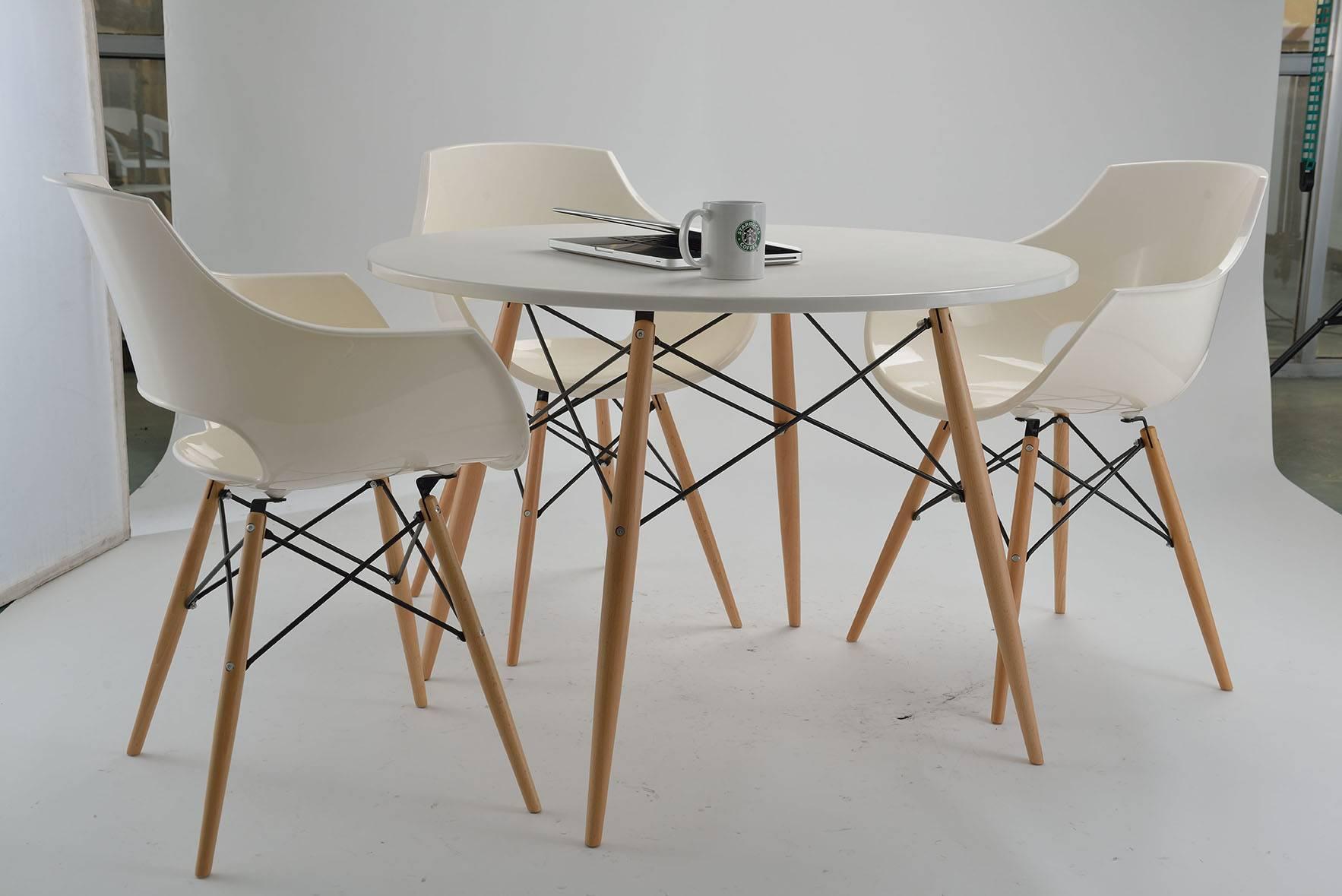 Modern Design White DSW Plastic Armrest Chair for Restaurant and Hotel