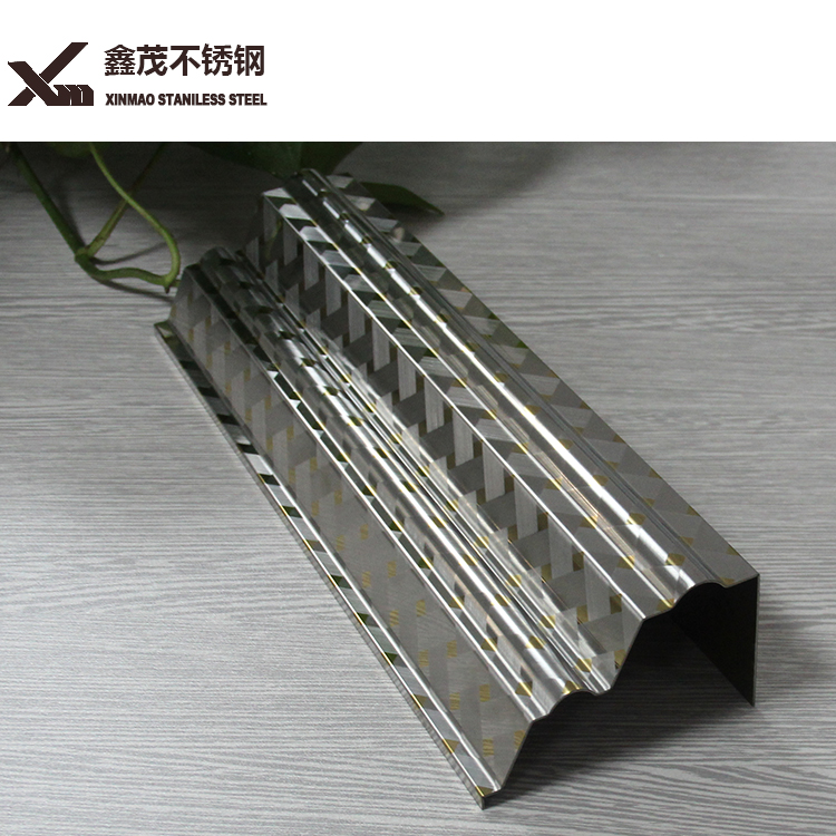 ss 304 silver color stainless steel tile trim strip