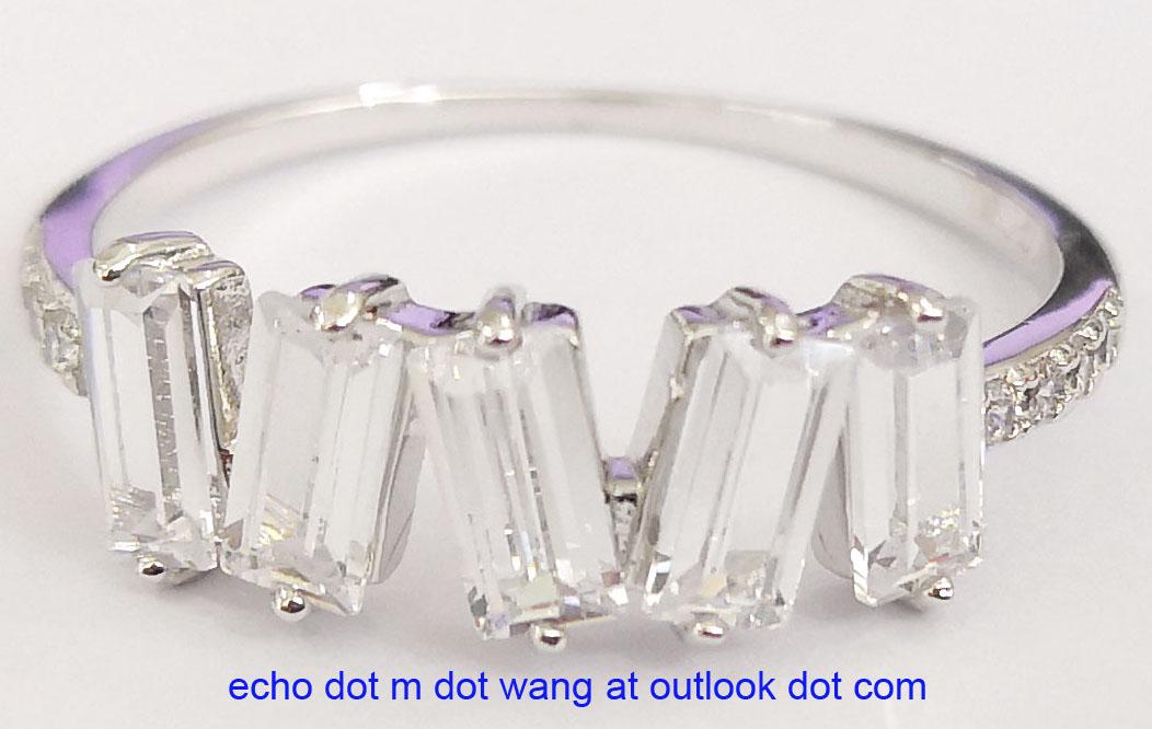 Brass rings in fine jewelry looking