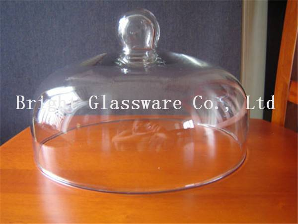blown glass cover for dinner, glass cake dome cover