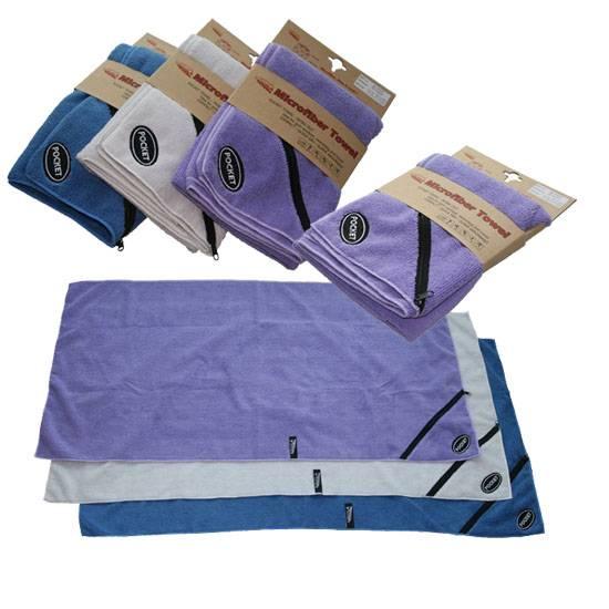 Microfiber Zipper Pocket Sport towel