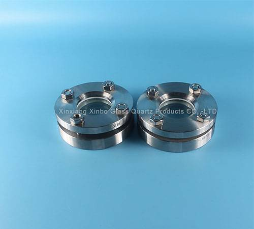 Flanged connection Sight valve Glass
