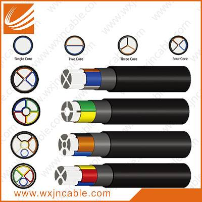 0.6/1KV VLV22-Aluminium Conductor PVC Insulated Steel Tape Armoured PVC Sheathed Power Cable