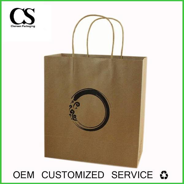 china supplier custom made arts and crafts kraft paper shop bag