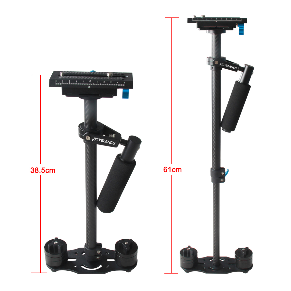 YELANGU Professional 60cm Handheld Camera Stabilizer S60T Support DSLR Camera Camcorders