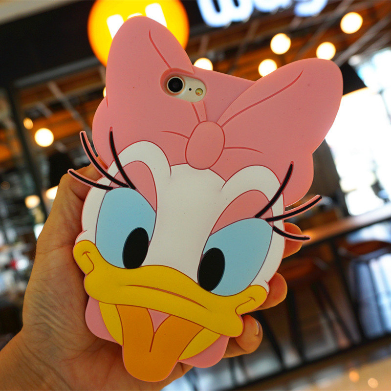 Silicone 3D Cute Cartoon Girls Smartphone Case for iPhone 6s/7/8Plus Xiaomi Protective Skin