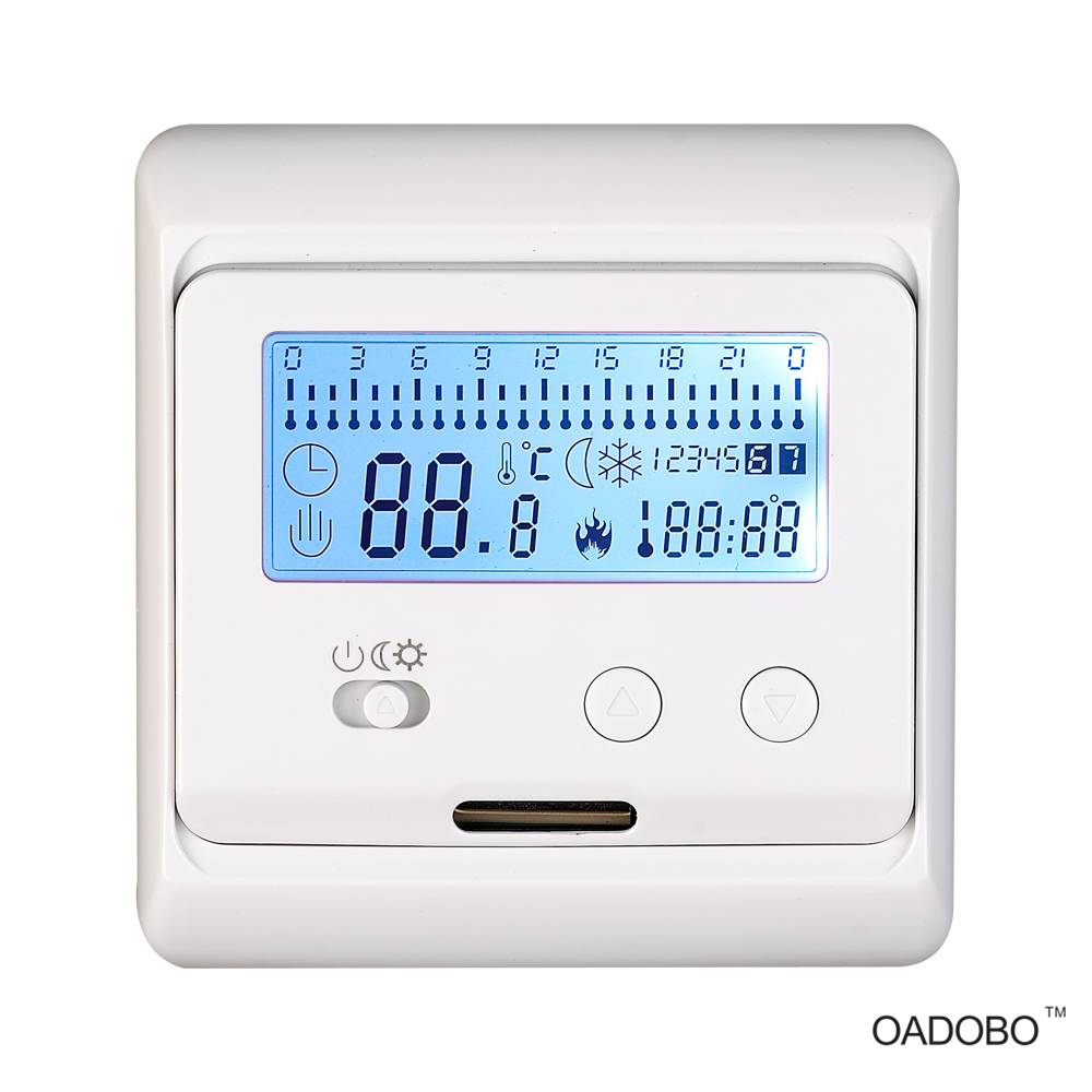 OADOBO universal 7-day programmable touch screen floor heating thermostat#V3