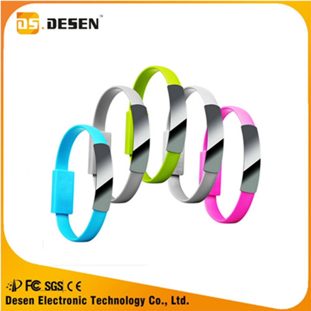 Colorful fashion universal bracelet micro usb charging cable
