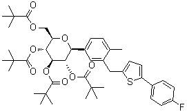 (1S)-1,5-Anhydro-1-C-[3-[[5-(4-fluorophenyl)-2-thienyl]methyl]-4-methylphenyl]-D-glucitol 2,3,4,6-te