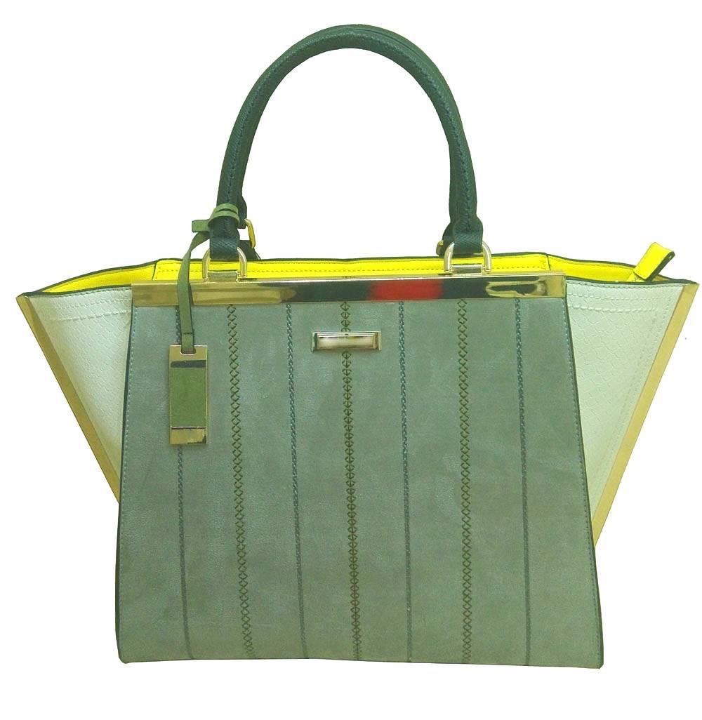 Handbags-front herringbone stitching tote