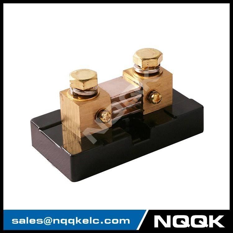 nqqk nqqkelc Brass-Ended Shunt 10A 2000A 50mV 75mV 100mV DC current shunt resistors