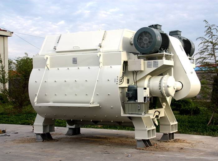 Famous Brand Twin Shaft Concrete Mixer With CE