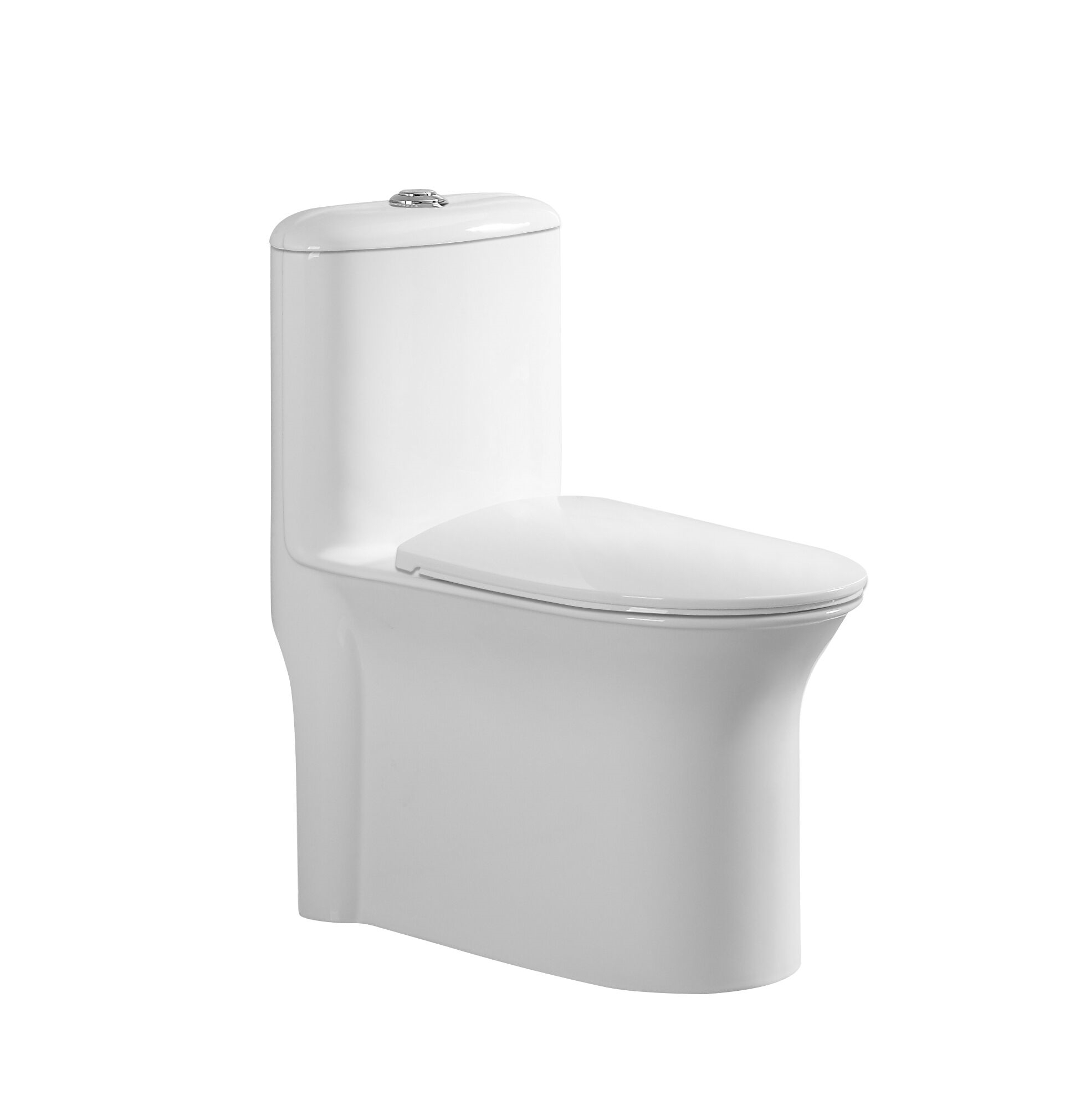New Design Big Pipeline Toilet with Tank Environmental Ceramic Hotel One Piece Toilet
