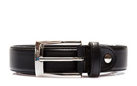 leather stitch classic belt black