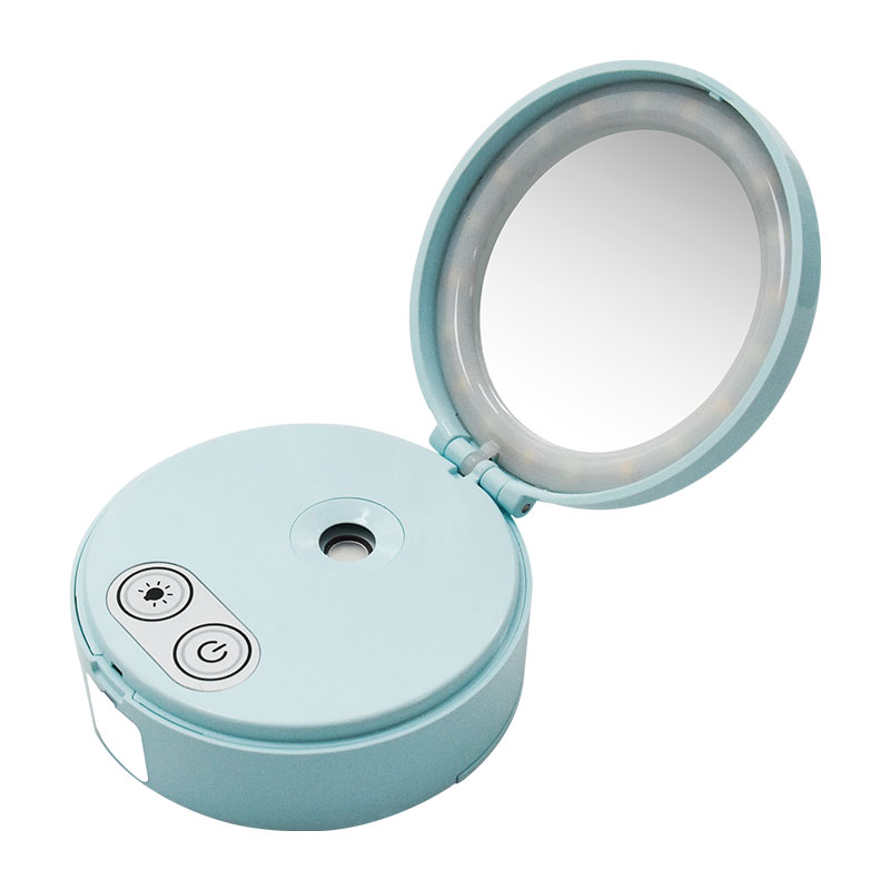 Nano mist sprayer with makeup mirror with lights portable LED skin care and make up tool nano mister