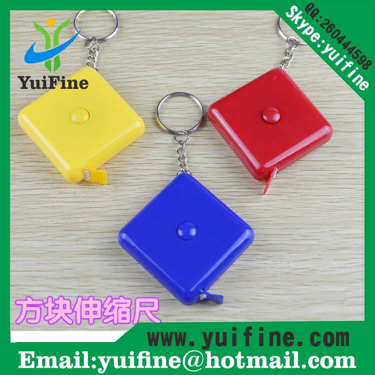 Square Shaped ABS Measuring Tape 1.5m/60inch with Keychain Retractable Tape measure Ruler sew Tailor