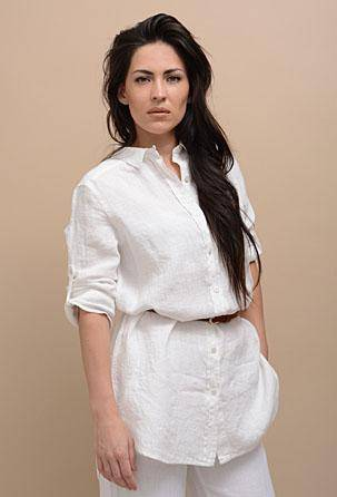 linen women blouses and tops 100% linen. Designed and manufactured in Italy