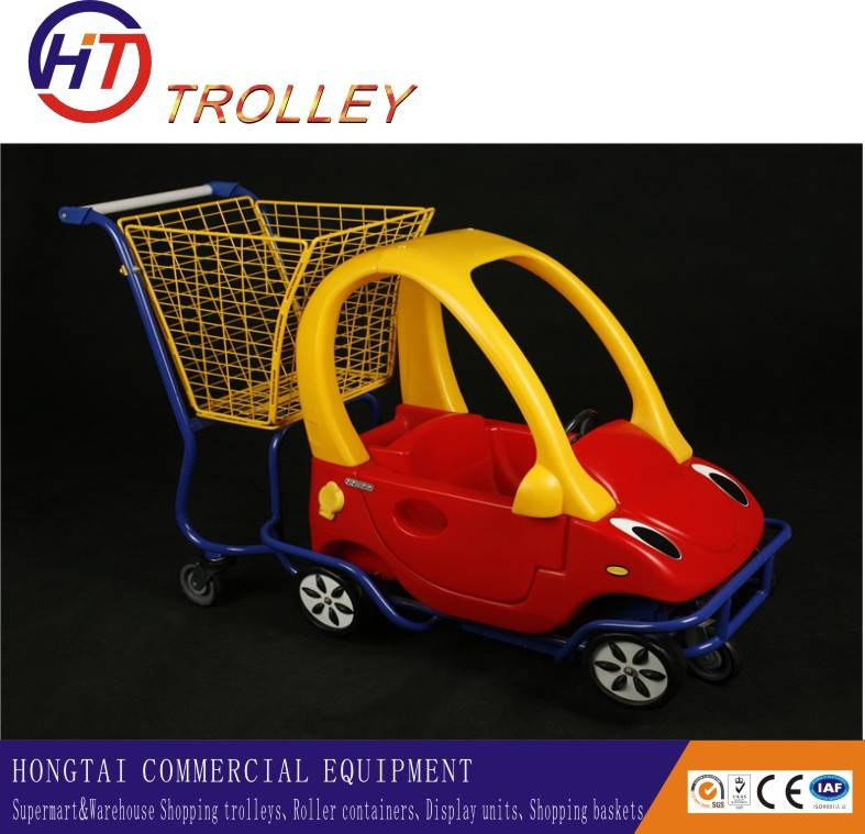 Kids  Funny Grocery Shopping Cart the Mini Car Shopping Cart for Kids