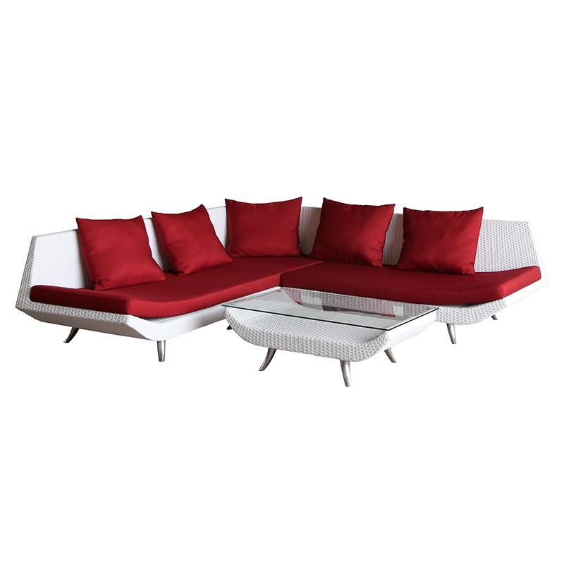 fancy commercial space saving willow rattan / wicker hotel lobby lounge furniture
